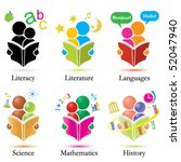vector study together icons set | Shutterstock .eps vector #52047940