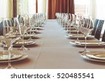 table setting for a banquet or... | Shutterstock . vector #520485541