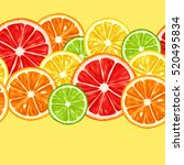 seamless pattern with citrus... | Shutterstock .eps vector #520495834