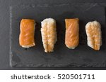 tasty pieces of sushi on a... | Shutterstock . vector #520501711