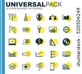 set of 25 universal editable... | Shutterstock .eps vector #520504249