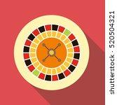 casino roulette icon. flat... | Shutterstock . vector #520504321
