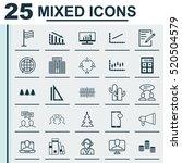 set of 25 universal editable...   Shutterstock .eps vector #520504579