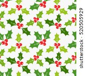 christmas holly berries... | Shutterstock .eps vector #520505929