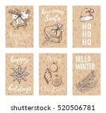 christmas  new year  noel... | Shutterstock .eps vector #520506781