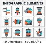 vector elements for business ... | Shutterstock .eps vector #520507741