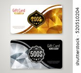 set of gift cards with... | Shutterstock .eps vector #520510204