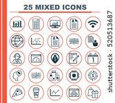 set of 25 universal editable... | Shutterstock .eps vector #520513687