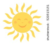 happy sun icon with smile... | Shutterstock .eps vector #520515151