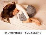 sickness stomach ache pain... | Shutterstock . vector #520516849