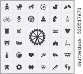baby  kids icons universal set...   Shutterstock .eps vector #520517671