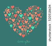 big heart made from small... | Shutterstock .eps vector #520518634