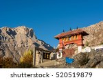 buddhist temple on mountain... | Shutterstock . vector #520519879
