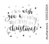 we wish you a very merry... | Shutterstock .eps vector #520522024
