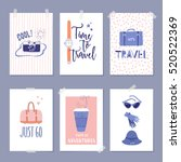 vector set of templates with... | Shutterstock .eps vector #520522369