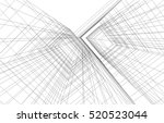 abstract architecture | Shutterstock .eps vector #520523044