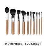 vector set of black clean... | Shutterstock .eps vector #520525894