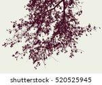 oak branch  in the autumn | Shutterstock .eps vector #520525945