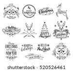 vector illustration of merry... | Shutterstock .eps vector #520526461