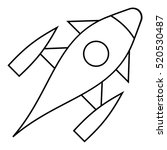 rocket with porthole icon.... | Shutterstock . vector #520530487