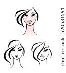 Fashion Icon Logo Set. Women...