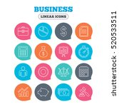 business icons. businessman ... | Shutterstock .eps vector #520533511