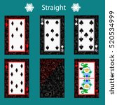 straight playing card poker... | Shutterstock .eps vector #520534999