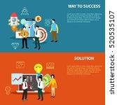 vector business elements ... | Shutterstock .eps vector #520535107