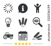 agricultural icons. wheat corn... | Shutterstock .eps vector #520536199