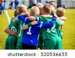 young football soccer players... | Shutterstock . vector #520536655