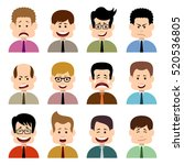 people in emotions. vector... | Shutterstock .eps vector #520536805