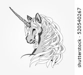 the head of a unicorn with a... | Shutterstock .eps vector #520540267