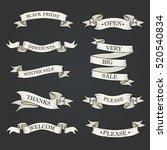 black ribbon banners set.... | Shutterstock .eps vector #520540834