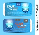 vector gift new year voucher on ... | Shutterstock .eps vector #520541611