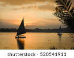 cairo   sunset over the nile   | Shutterstock . vector #520541911