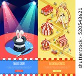 circus magic show and carnival... | Shutterstock .eps vector #520543621