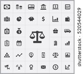 scales icon. bank icons... | Shutterstock .eps vector #520544029
