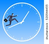 running up the clock handles... | Shutterstock .eps vector #520544455