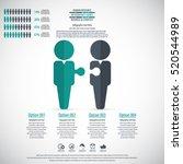 business management  strategy... | Shutterstock .eps vector #520544989