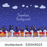 seamless background. winter... | Shutterstock .eps vector #520545025