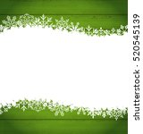 illustration snowflakes border... | Shutterstock .eps vector #520545139