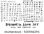 business doodles sketch vector... | Shutterstock .eps vector #520546291