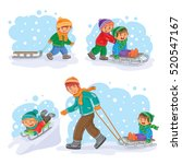 set winter icons with little... | Shutterstock .eps vector #520547167