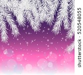 christmas background. silver... | Shutterstock .eps vector #520548055