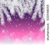 christmas background. silver...   Shutterstock .eps vector #520548055