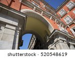 plaza de mayor  madrid | Shutterstock . vector #520548619