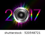 party   vector 2017 new year... | Shutterstock .eps vector #520548721