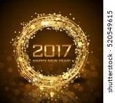 2017    vector happy new year... | Shutterstock .eps vector #520549615