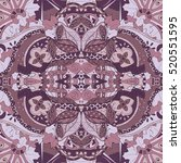 tracery seamless calming... | Shutterstock . vector #520551595