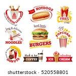 set beautiful cartoon icons of... | Shutterstock .eps vector #520558801
